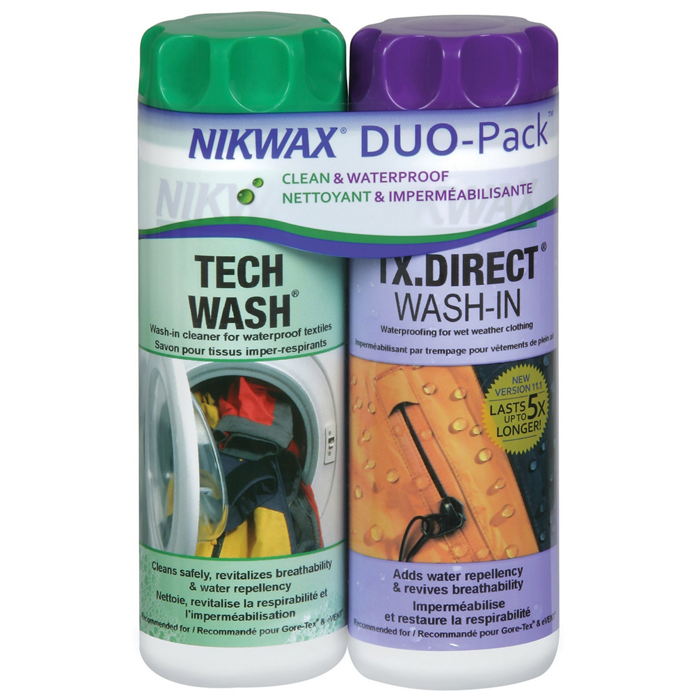 photo: Nikwax SoftShell DuoPack fabric cleaner/treatment