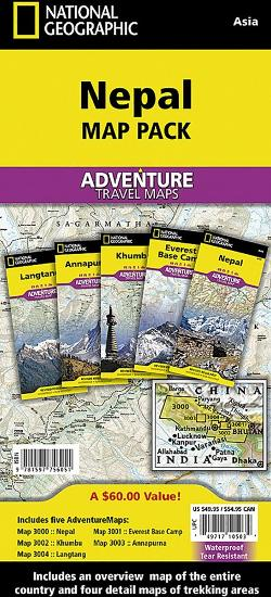 photo: National Geographic Nepal Adventure Map Pack international paper map
