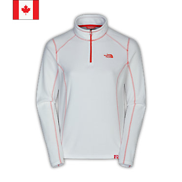 photo: The North Face Women's TKA 100 Glacier 1/4 Zip fleece top
