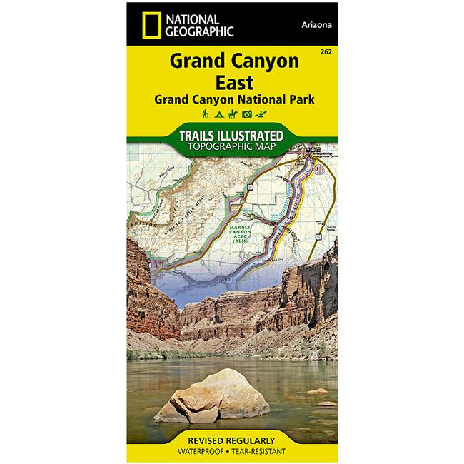 National Geographic Grand Canyon East: Grand Canyon National Park Map