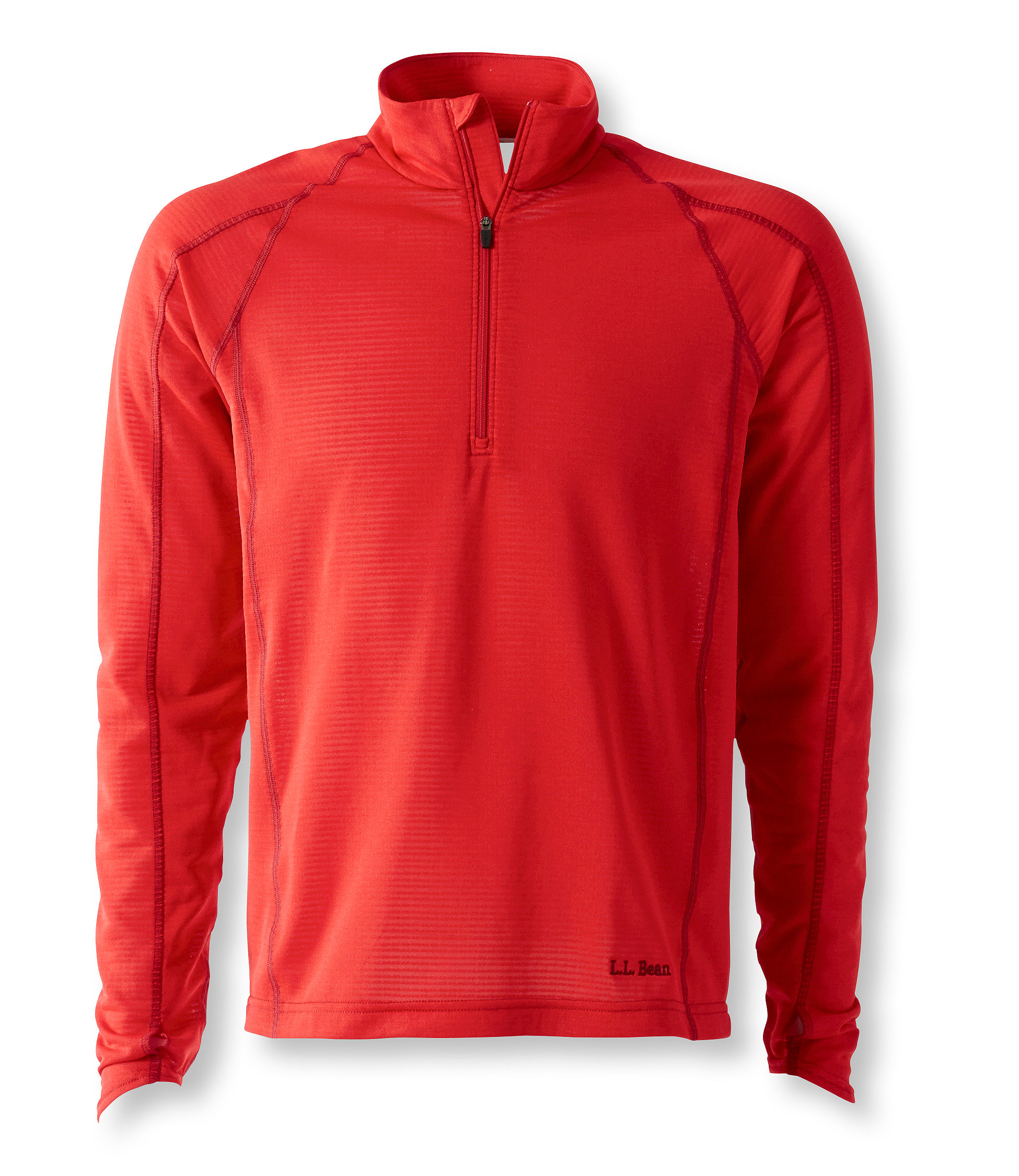 L.L.Bean Power Dry Stretch Base Layer, High-Efficiency T-Zip