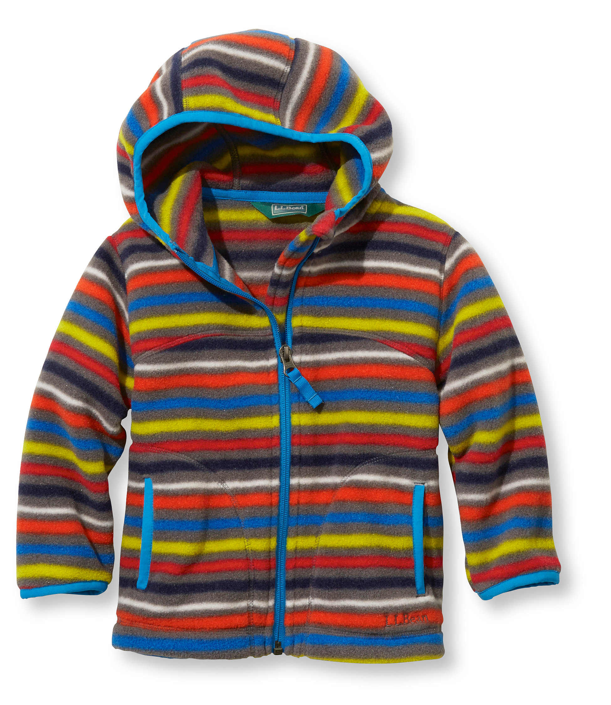 L.L.Bean Trail Model Fleece Hooded Jacket, Print