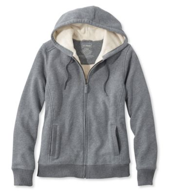 L.L.Bean Sweater-Trimmed Sherpa-Lined Hoodie