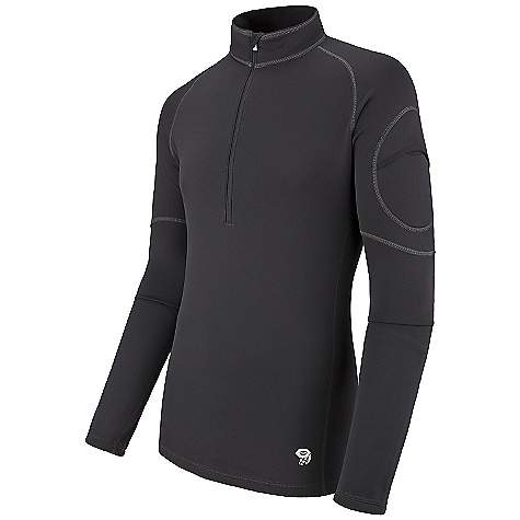 photo: Mountain Hardwear Micro Power Stretch Zip T base layer top
