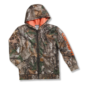 Carhartt Packable Work Camo Hooded Rain Jacket
