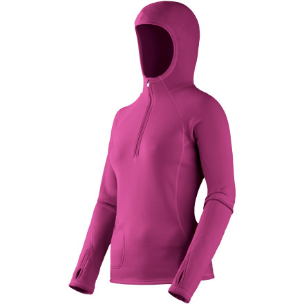 photo: Mountain Hardwear Women's Power Stretch Hoody long sleeve performance top