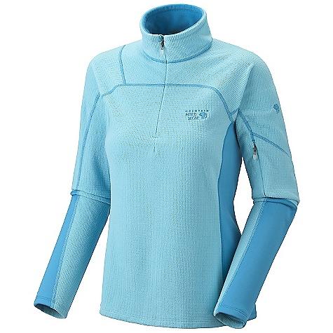 photo: Mountain Hardwear Women's Micro Grid Zip T fleece jacket