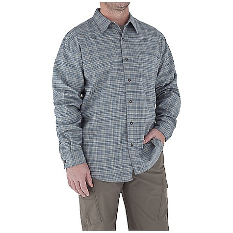 photo: Royal Robbins Banks Island Plaid Shirt hiking shirt