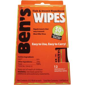 Adventure Medical Kits Ben's 30 Deet Tick & Insect Repellent Wipes