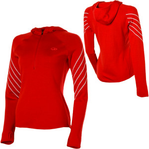photo: Icebreaker Women's Sport 320 LTD Powder Hood long sleeve performance top