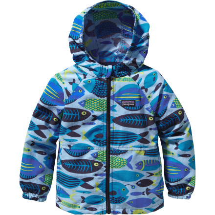 photo: Patagonia Boys' Baggies Jacket wind shirt