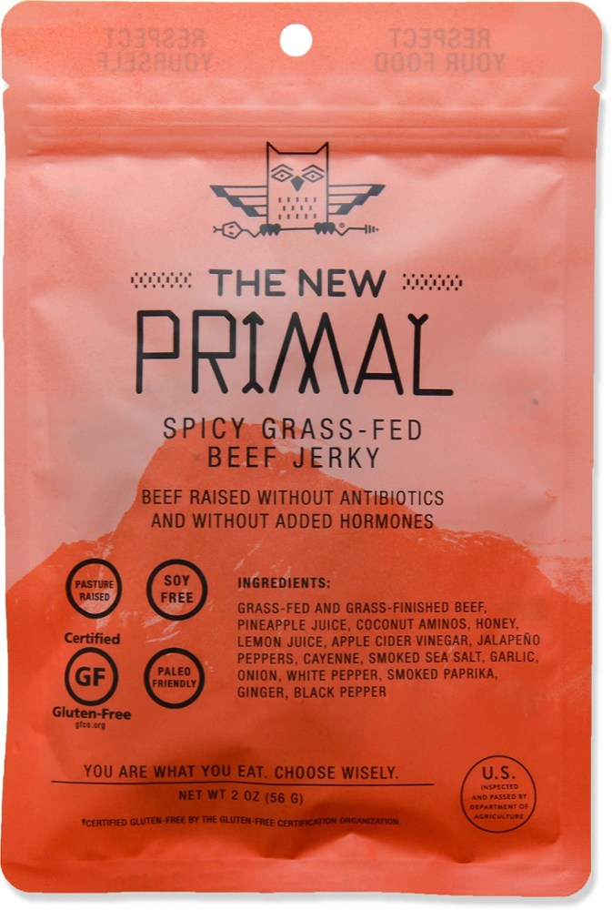 photo: The New Primal Spicy 100% Grass-Fed Beef Jerky snack/side dish