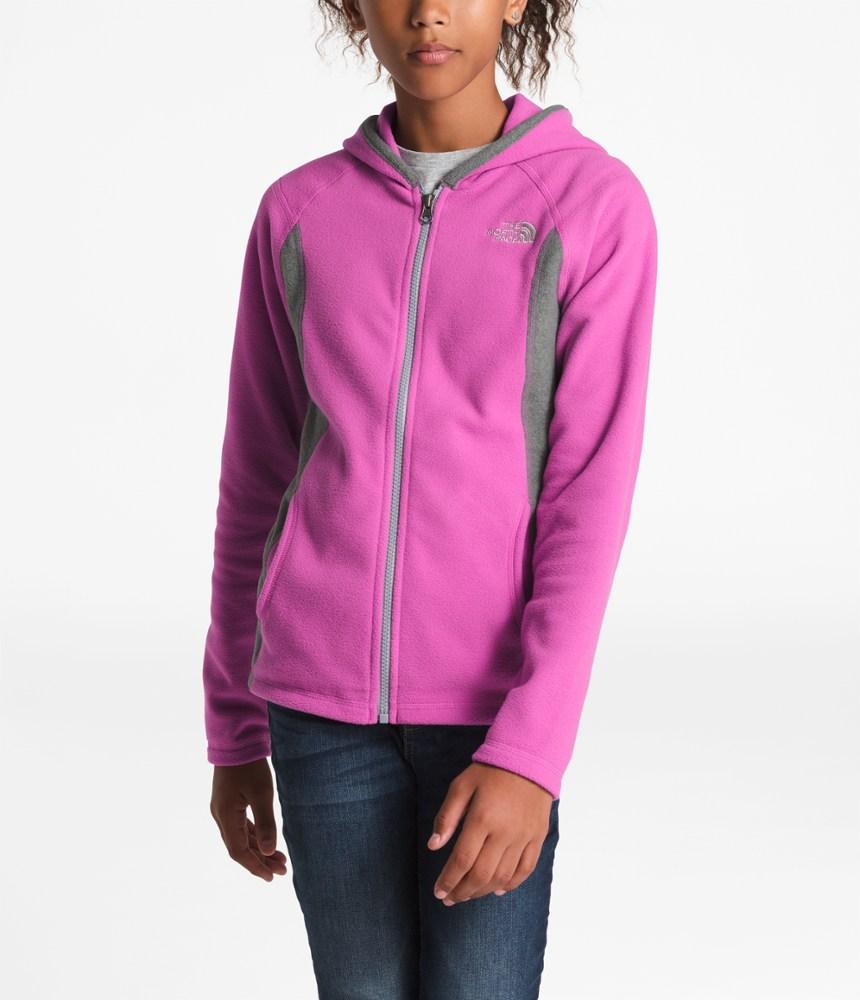 photo: The North Face Girls' Glacier Full Zip Hoodie fleece jacket
