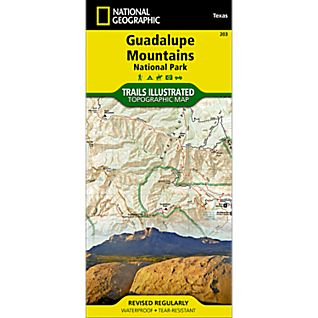 National Geographic Guadalupe Mountains National Park Map