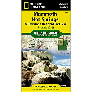 National Geographic Northwest Yellowstone - Mammoth Hot Springs Map