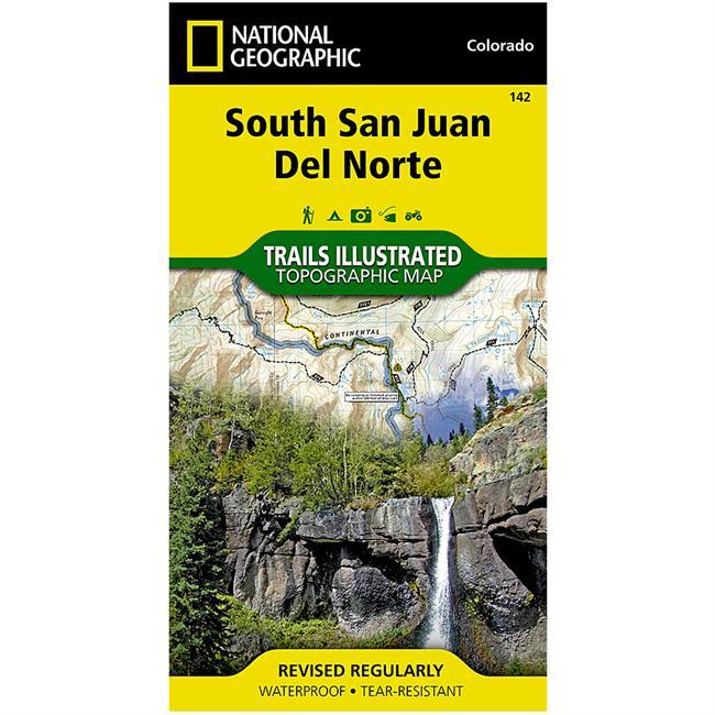 National Geographic South San Juan/Del Norte Map