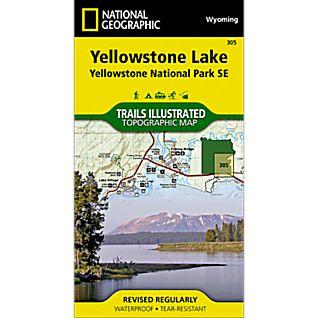 National Geographic Southeast Yellowstone/Yellowstone Lake Map