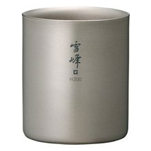 photo: Snow Peak Titanium Stackable Double Wall H200 Cup cup/mug