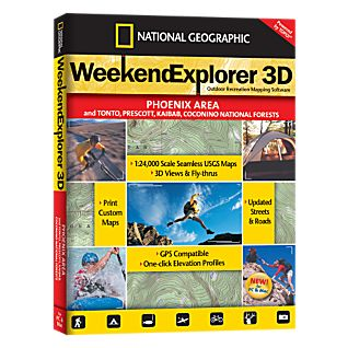 photo: National Geographic Weekend Explorer 3D - Phoenix Area CD-ROM us mountain states map application