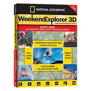 photo: National Geographic Weekend Explorer 3D - Boise Area CD-ROM us mountain states map application