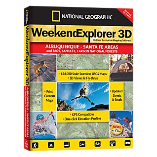 photo: National Geographic Weekend Explorer 3D - Albuquerque & Santa Fe Areas CD-ROM us mountain states map application