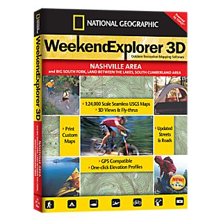 National Geographic Weekend Explorer 3D - Nashville Area CD-ROM