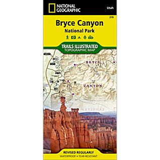 photo: National Geographic Bryce Canyon National Park Map us mountain states paper map