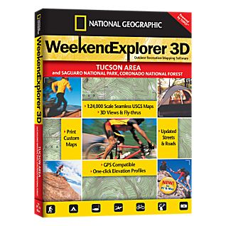 photo: National Geographic Weekend Explorer 3D - Tucson Area CD-ROM us mountain states map application