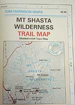 Tom Harrison Maps Mt. Shasta Wilderness Map