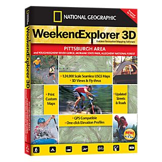 National Geographic Weekend Explorer 3D - Pittsburgh Area CD-ROM