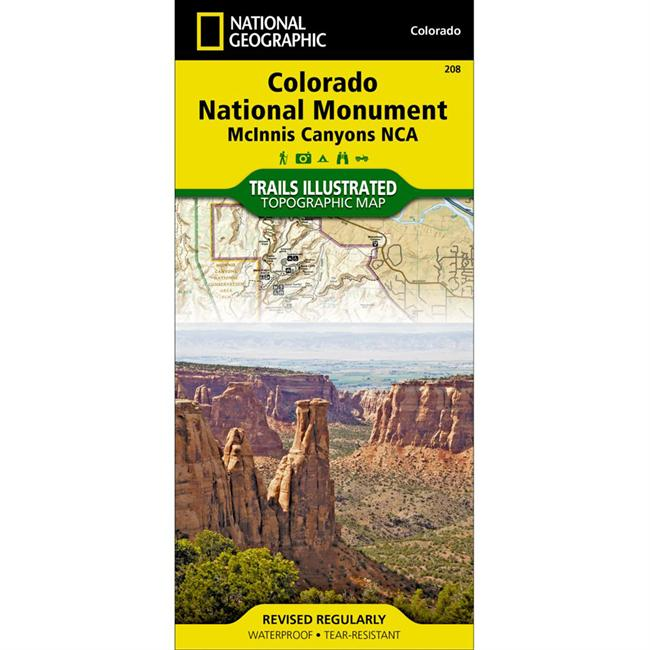National Geographic Colorado National Monument: McInnis Canyons Area Map