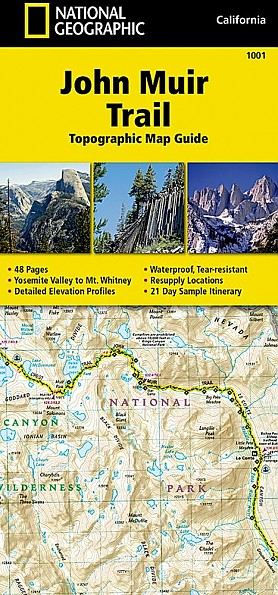 National Geographic John Muir Trail Topographic Map Guide