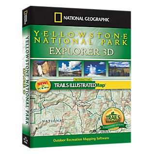 photo: National Geographic Yellowstone National Park Explorer 3D CD-ROM us mountain states map application