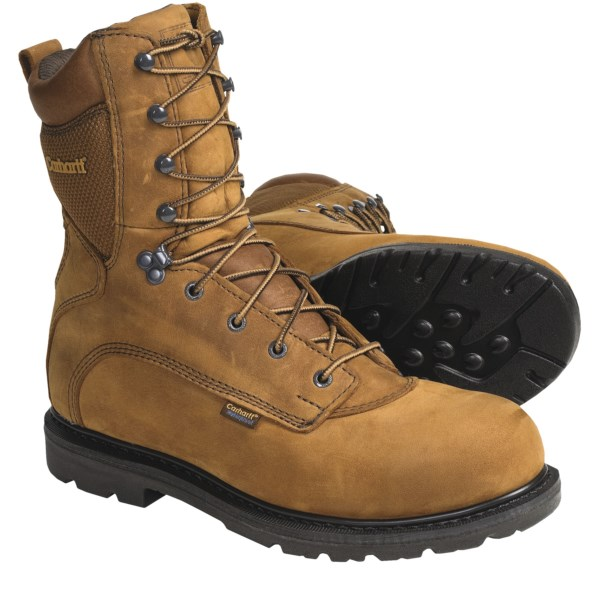 Carhartt 8 inch Work Boots - Waterproof, Leather