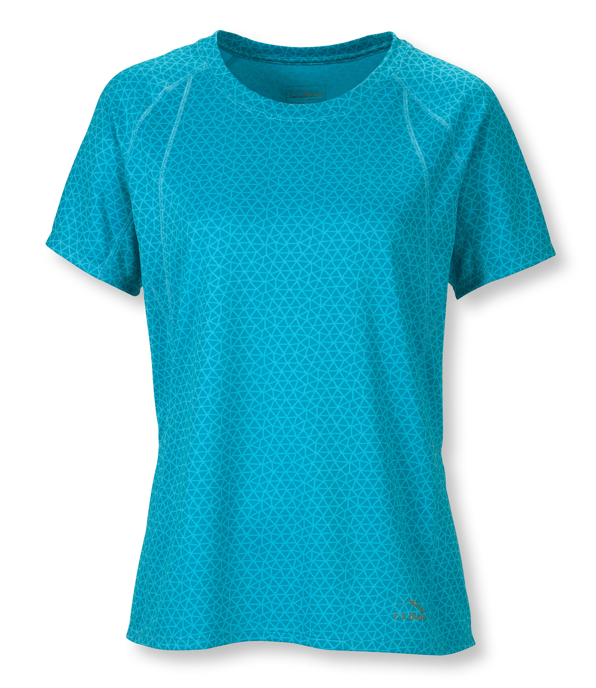 L.L.Bean Beansport Crewneck Tee, Short-Sleeve Print