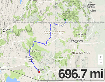 Durango-to-Flagstaff-and-Tucson-route-ma