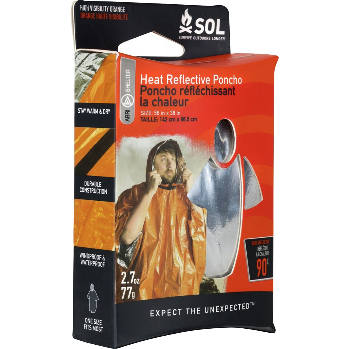 photo: SOL Survival Poncho emergency shelter