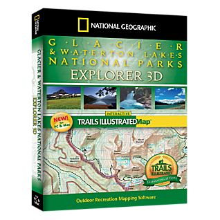 photo: National Geographic Glacier & Waterton Lakes National Parks Explorer 3D - CD-ROM us mountain states map application