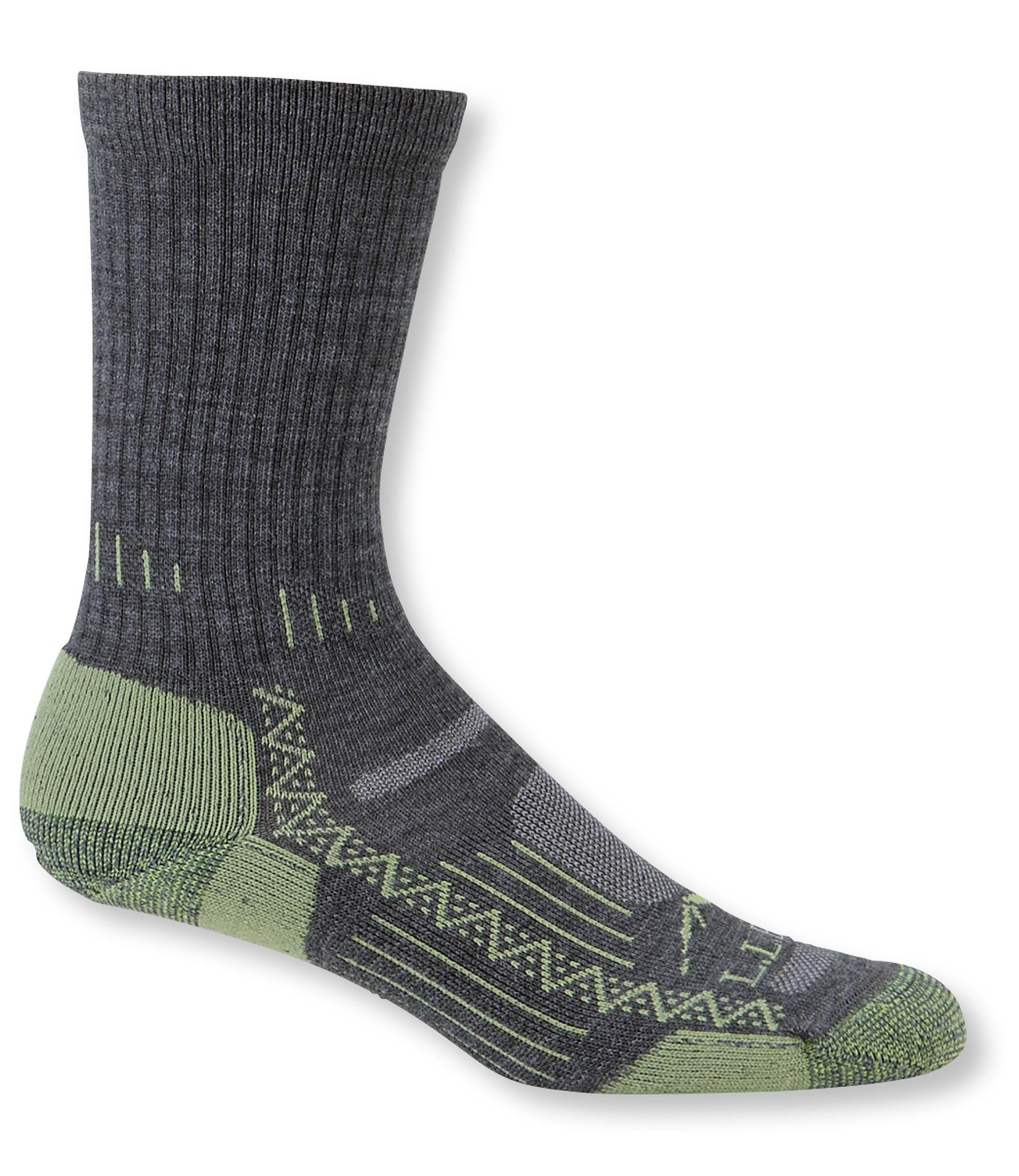 L.L.Bean Ascent Hiking Socks, Midweight 2-Pack
