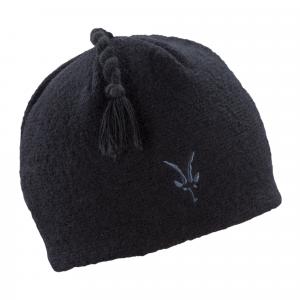 photo: Ibex Top Knot Hat winter hat