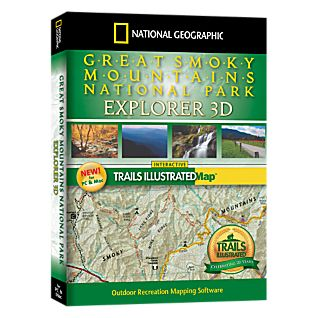 photo: National Geographic Great Smoky Mountains National Park Explorer 3D CD-ROM us south map application