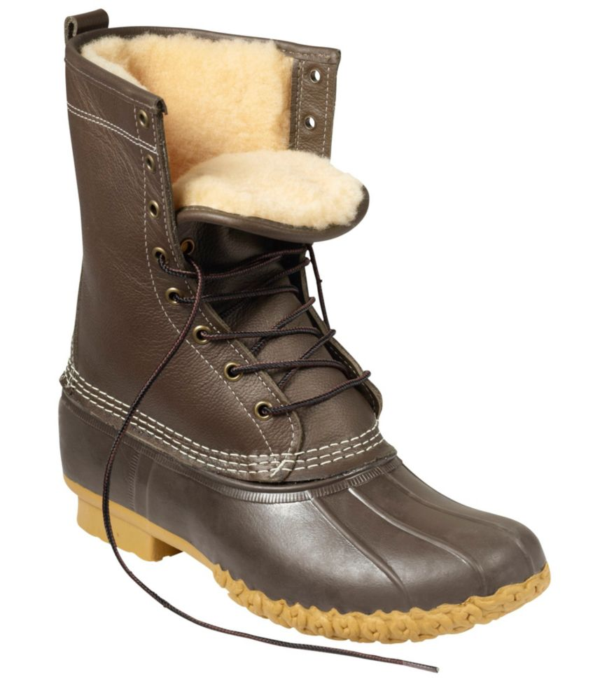 "photo: L.L.Bean Women's Bean Boots, 10"" Shearling-Lined winter boot"
