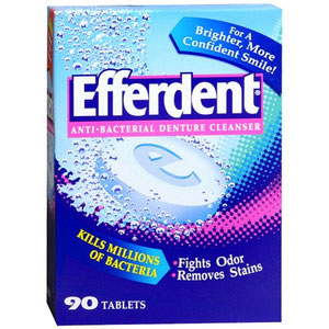 photo:   Efferdent Cleanser equipment cleaner/treatment