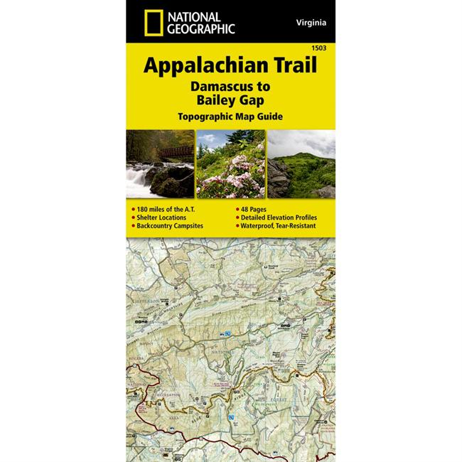 National Geographic Appalachian Trail: Damascus to Bailey Gap