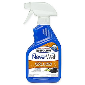 photo:   Rust-Oleum NeverWet Boot & Shoe Water Repelling Treatment footwear cleaner/treatment