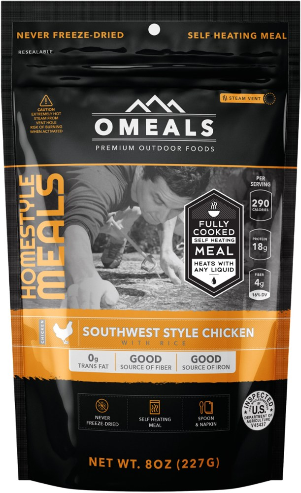 photo: OMeals Southwest Style Chicken with Rice meat entrée