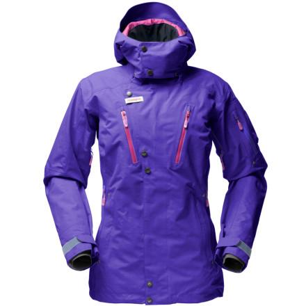 photo: Norrona Women's Roldal Gore-Tex Performance Shell Insulated Jacket snowsport jacket