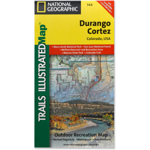 National Geographic Durango/Cortez Trail Map