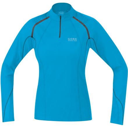 Gore X-Running Zip Long Lady Shirt