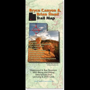 photo: Adventure Maps Bryce Canyon & Brian Head Trail Map us mountain states paper map